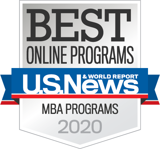 US News and World Report Best Online MBA Programs Badge