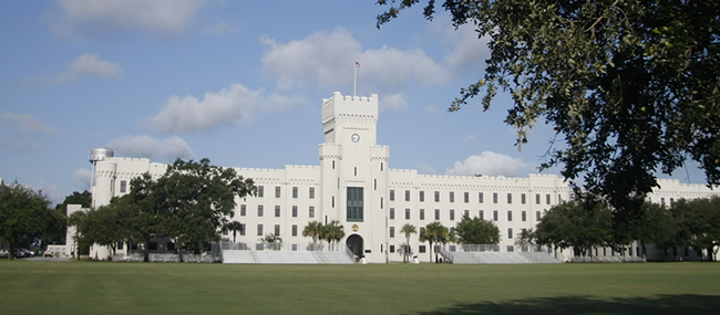 PT Barracks on The Citadel campus